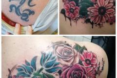 Coverup-tattoo-blumen