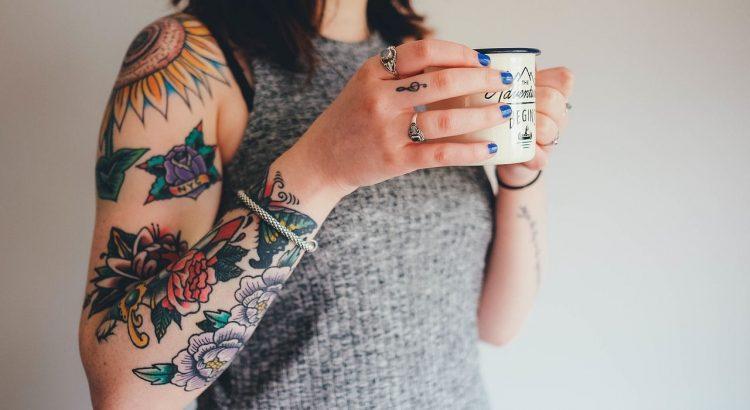 Blumen Tattoo